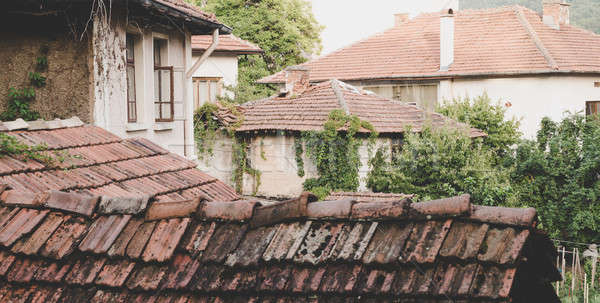 Old houses in small town in Bulgaria Stock photo © alexeys
