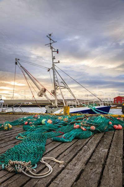 Połowów portu mały łodzi przemysłu statku Zdjęcia stock © alexeys