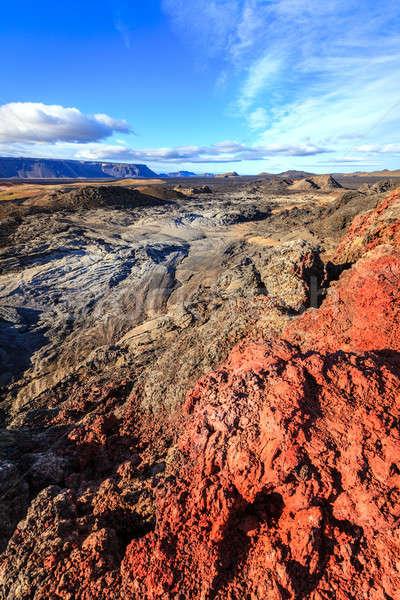 Lava veld vulkanisch noordelijk IJsland hemel Stockfoto © alexeys
