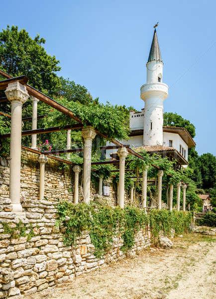 宮殿 黒 海 リゾート 町 壁 ストックフォト © alexeys