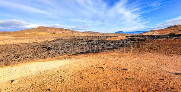 Lava campo vulcânico norte Islândia natureza Foto stock © alexeys