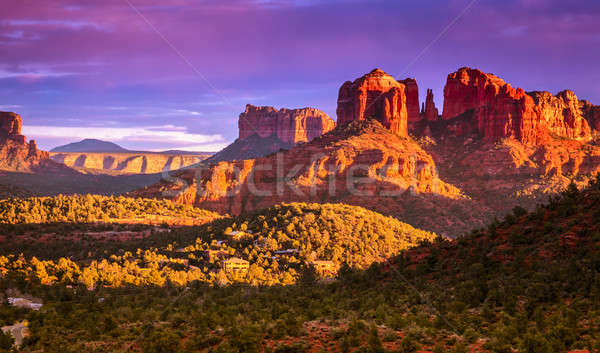 Cathedral Rock sunset Stock photo © alexeys