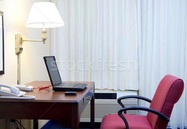 отель месте небольшой номер в отеле столе ноутбука Сток-фото © alexeys