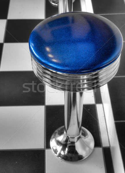 Бар стул Top мнение металл синий Сток-фото © alexeys