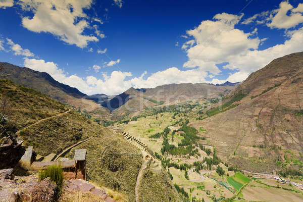 Sacro valle rovine cielo panorama viaggio Foto d'archivio © alexeys