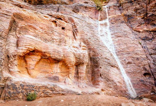 Petra Lion Fountain Stock photo © alexeys