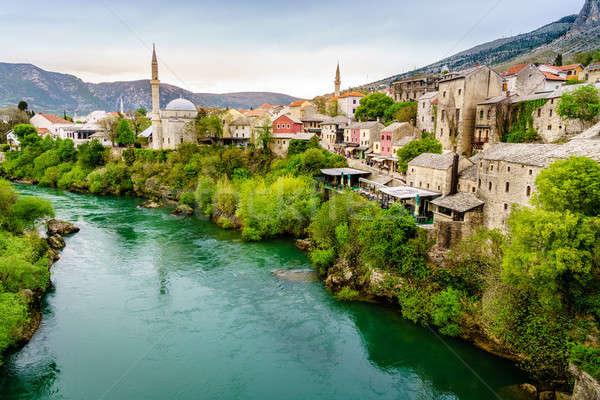 Mostar and Neretva River Stock photo © alexeys