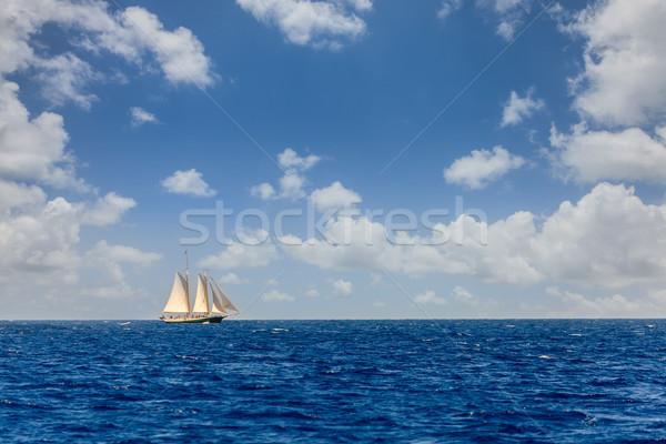 парусного Карибы парусника ярко открытых Сток-фото © alexeys