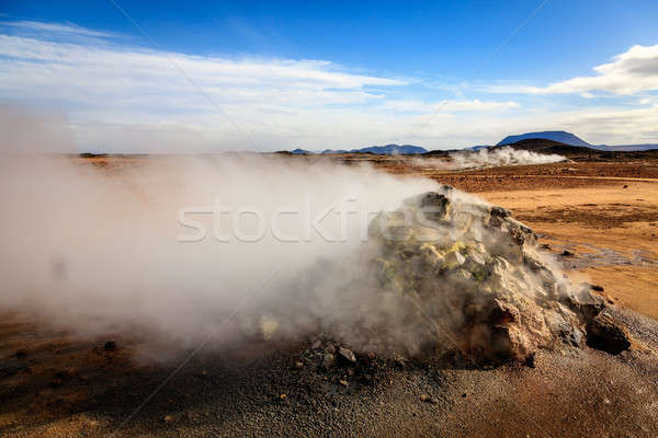 Geothermal field Stock photo © alexeys