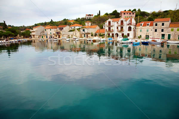Croatian village Stock photo © alexeys