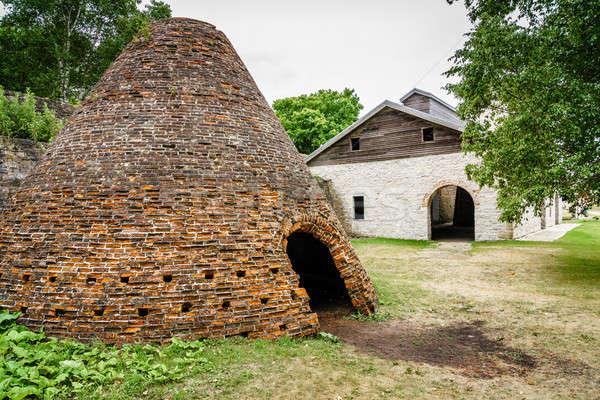 Carvão vegetal histórico península céu verão industrial Foto stock © alexeys