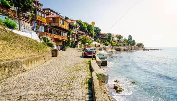 遊歩道 黒 海 海岸 水 ストックフォト © alexeys