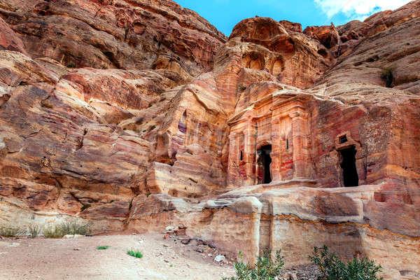 表示 古代 岩 市 赤 文化 ストックフォト © alexeys