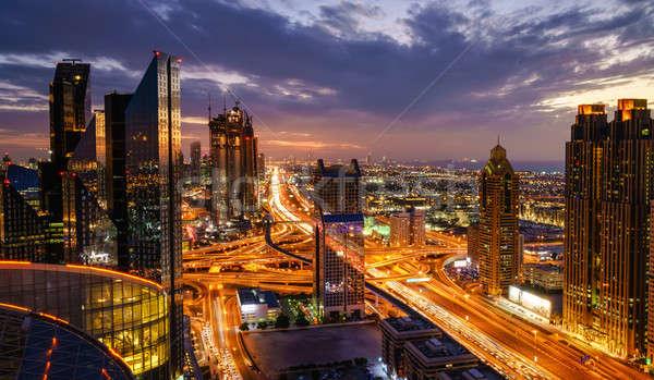 Дубай час пик птиц глаза мнение Skyline Сток-фото © alexeys