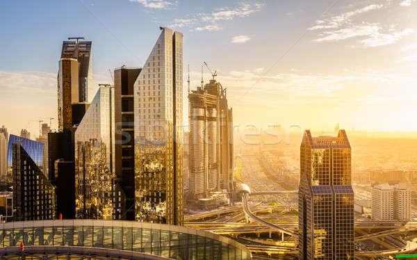 Dubai ora di punta uccelli occhi view skyline Foto d'archivio © alexeys