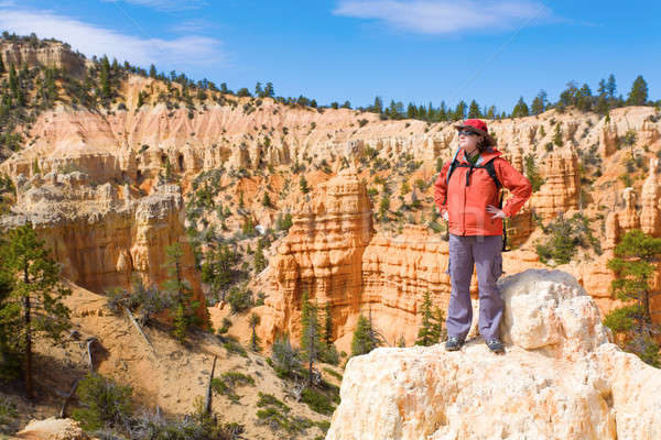 Woman viewing Bryce Canyon Stock photo © alexeys