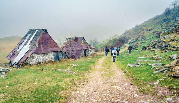 Bosnian village in the mountains Stock photo © alexeys
