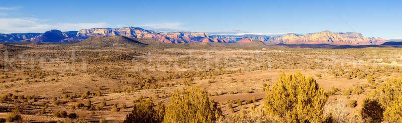 Red Rock Panorama Stock photo © alexeys