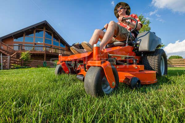 Riding lawnmower Stock photo © alexeys