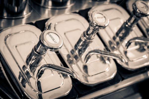 Soda çeşme şurup görüntü Retro Stok fotoğraf © alexeys