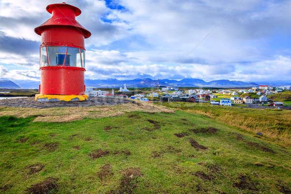 Red lighthouse Stock photo © alexeys