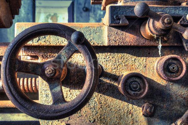 Máquina primer plano oxidado abandonado buque textura Foto stock © alexeys