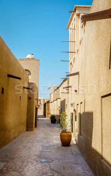 Historyczny sąsiedztwo ulic starówka niebo niebieski Zdjęcia stock © alexeys