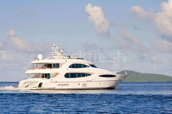 Luxury yacht Stock photo © alexeys