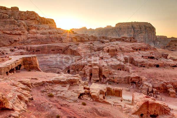 Sunset at Petra Stock photo © alexeys