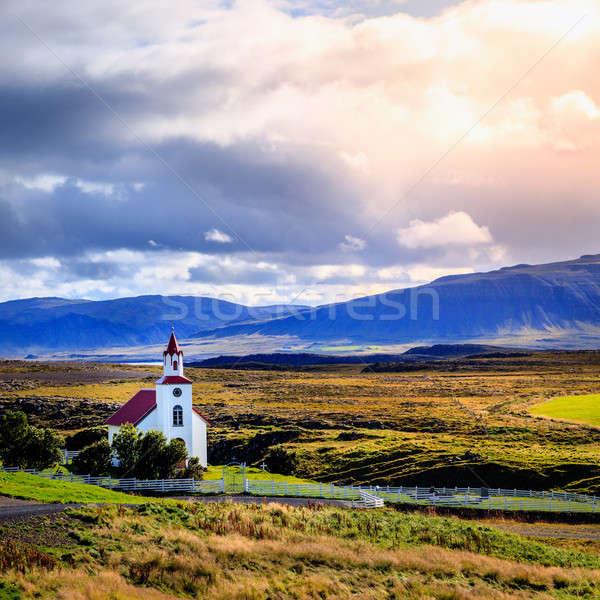 Landscape with church Stock photo © alexeys