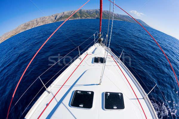 Vela avventura fisheye immagine arco vela Foto d'archivio © alexeys