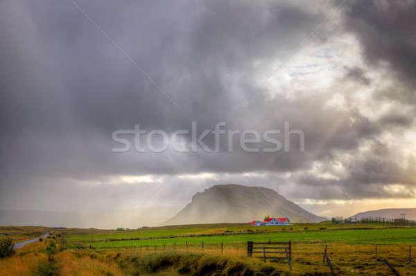 Storm over farm Stock photo © alexeys