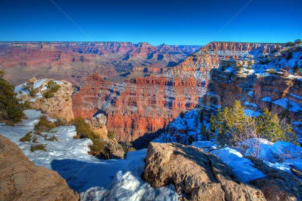 Grand Canyon festői kilátás dél peremszegély tél Stock fotó © alexeys