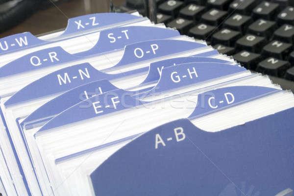 Index file with keyboard Stock photo © alexeys