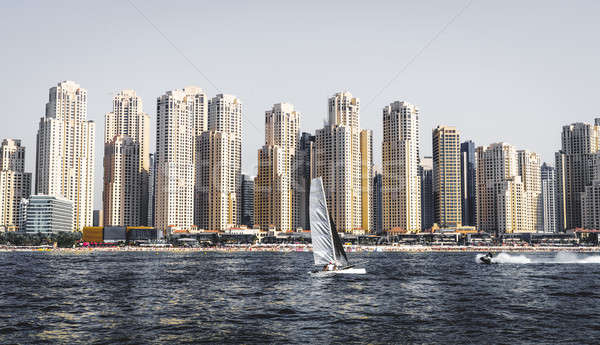 Spiaggia residenza view Dubai acqua Foto d'archivio © alexeys