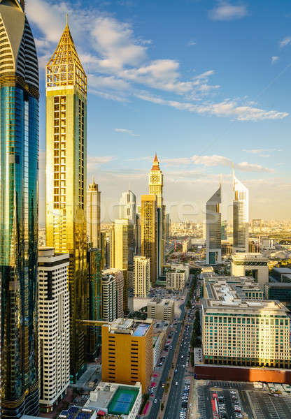 Modern sziluett magas pont kilátás Dubai Stock fotó © alexeys