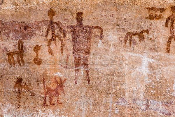 Petroglyphs Stock photo © alexeys