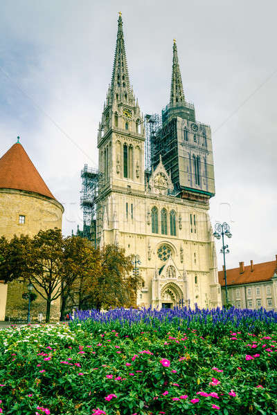 Cathedral of Zagreb Stock photo © alexeys