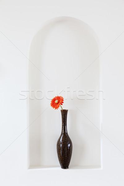 Vase with red flower Stock photo © alexeys