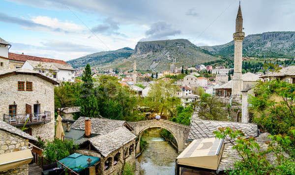 City of Mostar in Bosnia Stock photo © alexeys