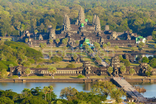 Aerial view of Angkor Wat Stock photo © alexeys
