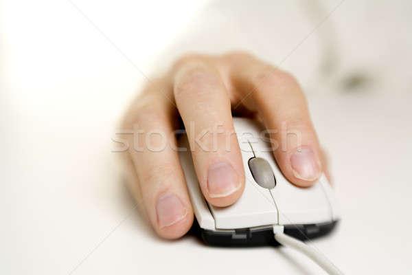 El bilgisayar fare seçici odak ofis teknoloji Stok fotoğraf © alexeys