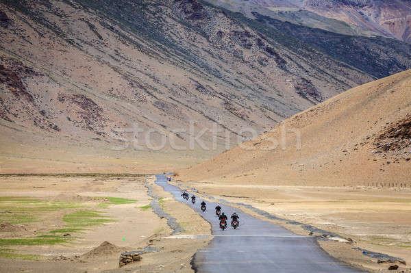 Carretera meseta región viaje grupo carretera Foto stock © alexeys