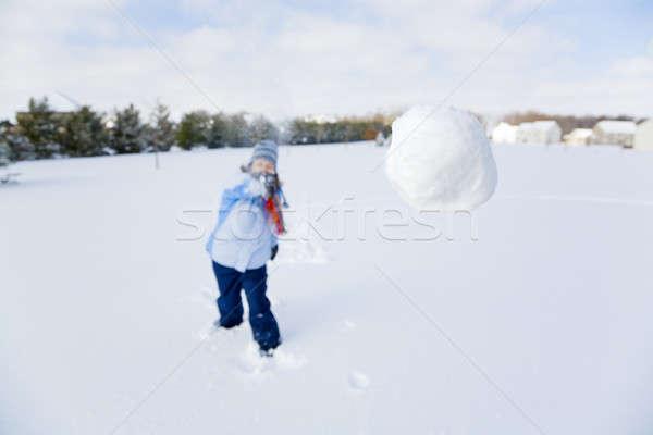 Snowball fight Stock photo © alexeys