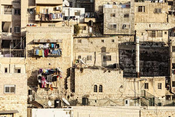 арабских деревне мнение домах Иерусалим Израиль Сток-фото © alexeys