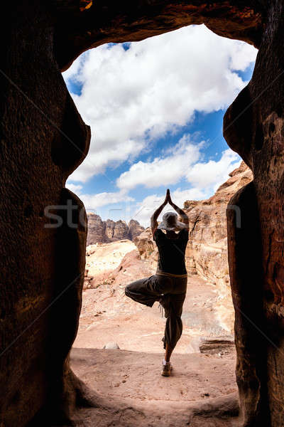 Yoga in Petra Stock photo © alexeys