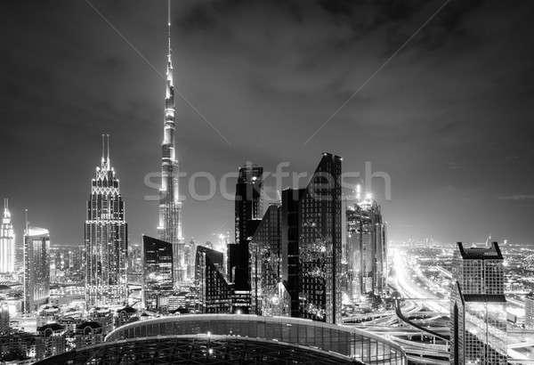 Dubai downtown skyline Stock photo © alexeys