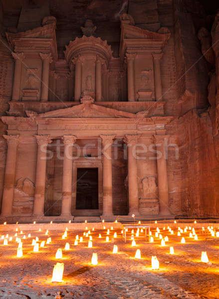 Petra by night Stock photo © alexeys