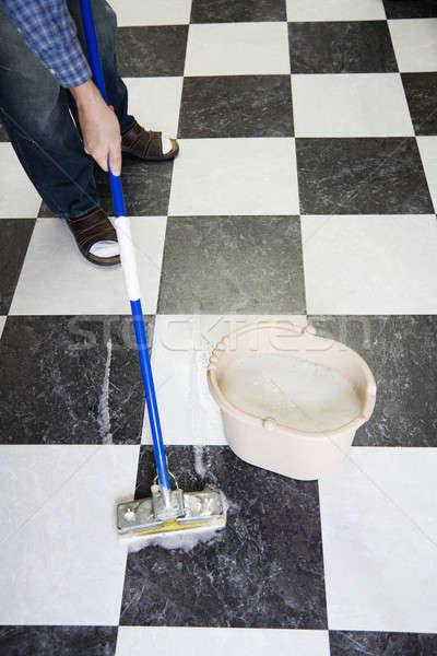 Mopping floor Stock photo © alexeys