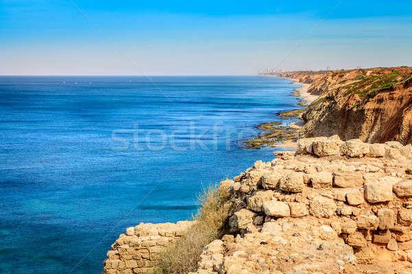 Израиль Средиземное море морем израильский побережье небе Сток-фото © alexeys